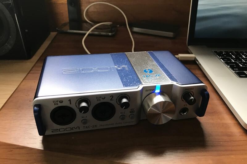 電源がオンになったTAC-2R