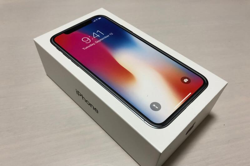 iPhone Xの箱