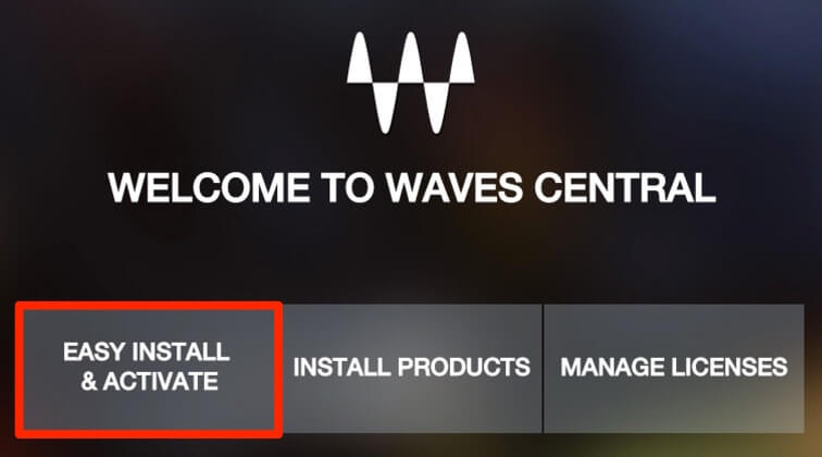 Waves Centralのインストール