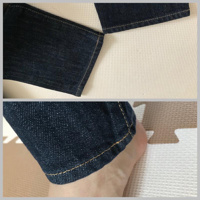 ZOZOのジーンズ。裾がぴったり。