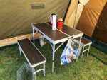 クイックキャンプのテーブル
