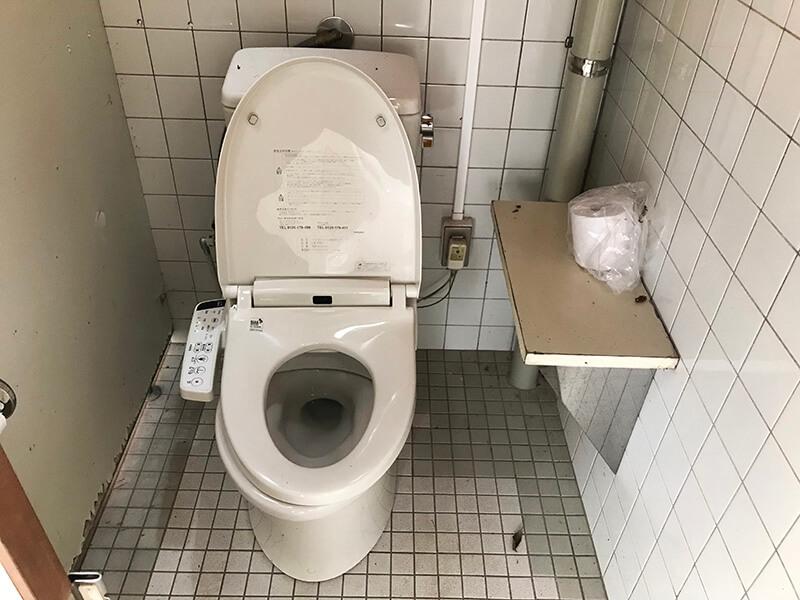 御池キャンプ村のトイレ(洋式便座)