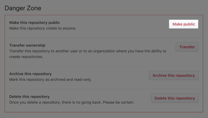 GitHubのリポジトリ設定