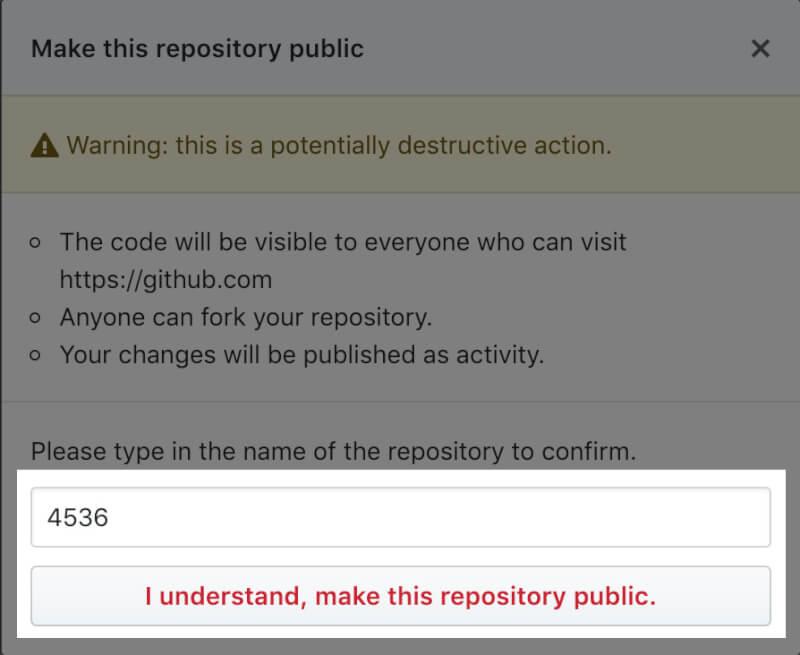 GitHubのリポジトリを公開する